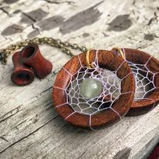 Dream Catcher Tunnels Magnetic Bloodwood Tunnels with DreamCatcher Dangle Chains Sizes 100g 48