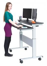 two tier electric adjule standing desk 48 wide black shelves