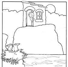 Het Huis Op De Rots 6 Bij De Bijbel Nt Kleuren Pinterest