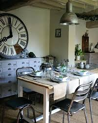 huge clock in dining room with pendant and metal chairs modern big wall clocks india