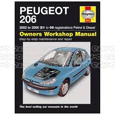 haynes workshop manual peugeot 206 petrol diesel 02 06 51 to 06 click to enlarge
