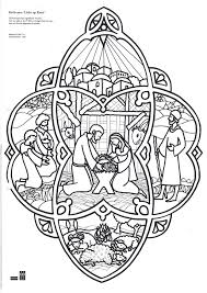 Elegant Christmas Nativity Scene Coloring Pages Thelmexcom
