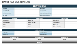 Paycheck Stub Layout Free Pay Stub Templates Smartsheet