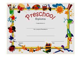 Prek Diploma Preschool Graduation Certificate Template 7871