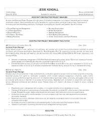 Construction Assistant Project Manager Resume Assistant Project Coordinator Sample Resume It Manager Cv