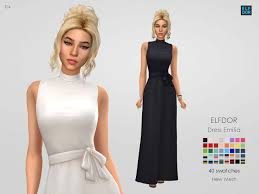 Dress Emilia | Sims 4 dresses, Dresses, Sims 4 clothing