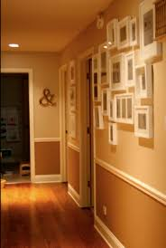 image result for hallway with chair rail dark moldings