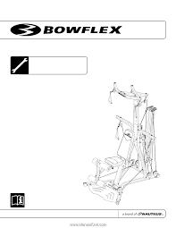 Bowflex Pr3000 Workout Chart Bowflex Pr3000 Assembly Manual