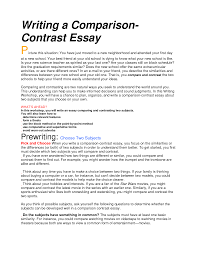comparison and contrast essay format writing a compare contrast essay