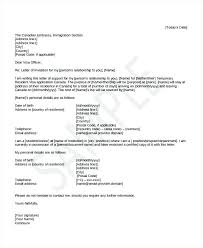 Immigration Reference Letter Samples Sample Character For