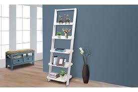 5 tier wooden wall rack leaning ladder shelf unit bookcase display home decor white kogan com