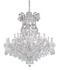 crystorama maria theresa 25 light clear crystal chrome chandelier