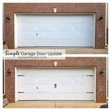 garage door before after hardware