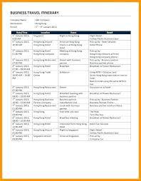Travel Agenda Template Word – Onairproject.info