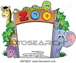 zoo entrance clip art. Brilliant Entrance Clip Art  Zoo Entrance With Various Animals Fotosearch Search Clipart  Illustration Posters Inside Entrance