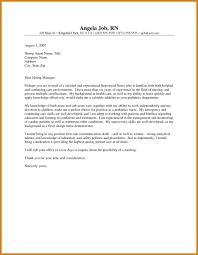 Cover Letter For A Nurse Registered Nurse Cover Letter Letter Format Template 23