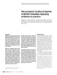 Pdf The Economic Burden Of Injuries In British Columbia