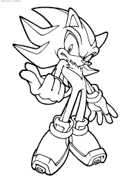 Shadow The Hedgehog Coloring Pages To Print Get Coloring Pages