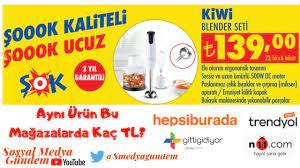 Şok Market Aktüel Ürün 2020   Kiwi Blender Seti 4440 Blender Seti 500 W    Fiyat Karşılaştırması - YouTube