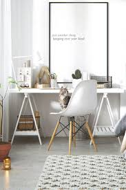 lovely long desks home office 5. home office space bright and cheerful 5 beautiful scandinavianinspired interiors lovely long desks s