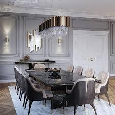 Luxus Esstisch Mit Gold Und Tollen Gepolsterten Stühlen In