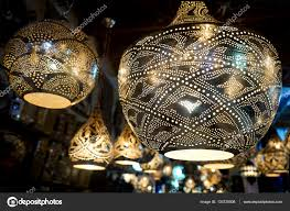 oriental lighting. The Metal Oriental Lamp . \u2014 Stock Photo Lighting