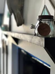 Rustic Narrow Wall Shelf With Brackets Custom Customizable