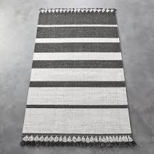 gallery of olin grey striped cotton dhurrie rug crate and barrel gorgeous gray 0