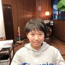 中学生 バスケ頑張ってねっ ショートヘア 美容師