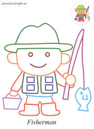 Small Picture fisherman coloring pages Preschool Crafts