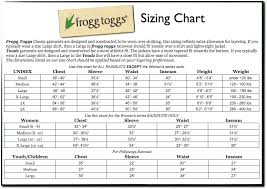 Frogg Togg Rain Gear Size Chart Rain Or Shine Your Frogg Toggs Source