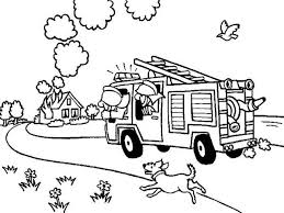 Small Picture Fireman On The Way To House On Fire Coloring Page Kids Play Color