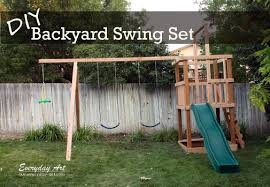 the diy backyard swing set