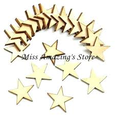 unfinished wood stars lot blank star wooden crafts cutouts plaque card making wedding decorations large