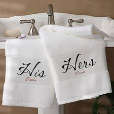 his and hers bathroom set. personalized bath towel set - his and hers design 1696 bathroom g
