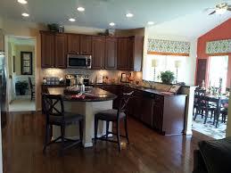 Dark Wood Kitchen Cabinets Dark Wood Kitchen Cabinets L Shaped Dark Stained Oak Wood Kitchen