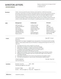 Restaurant Manager Resume Examples Restaurant Assistant Manager ...