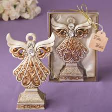 Cross Design Curio Box Favors 75 Angel Statue Figurine Wedding Baby Shower Party Event