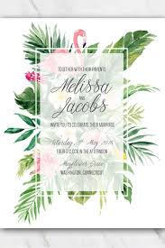 Free Download Wedding Invitation Templates Tropical Flamingo Wedding Invitation Template Free Templates