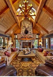 living room area rug 6 inside a rustic mountain cottage