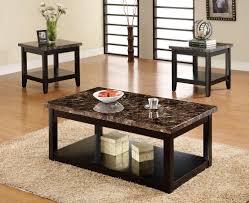 dark wood coffee table sets granite