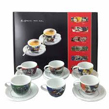saeco jh collection six piece espresso cup set  espresso