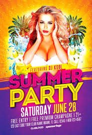 Summer Party Flyers Summer Party Flyer Template Vol 3 Awesomeflyer Com