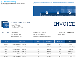Microsoft Office Templates Invoices Invoices Office Com