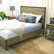 world market bed bedroom stylish on pertaining to wood and metal accents rustic nightstands bedding