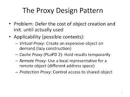 Proxy Design Pattern Ppt The Proxy Design Pattern Powerpoint Presentation Free