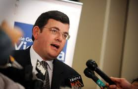 Daniel andrews is hunched over his laptop, addressing a live video conference. Daniel Andrews Family The Premier S Life In Lockdown