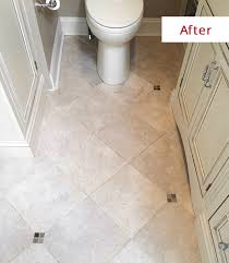 This low luster finish is ideal for heavily trafficked areas like a bathroom  floor ...