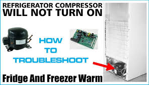 refrigerator compressor will not turn on lights and fans work refrigerator compressor will not turn on lights and fans work