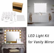 makeup vanity with led lights. hollywood diy vanity lights strip kit for lighted makeup dressing table mirror plug in led lighting fixture -in underwear from mother \u0026 kids on with led